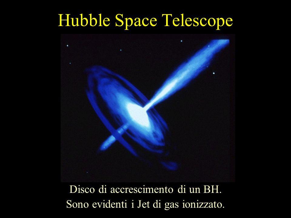 Hubble Space Telescope Disco di accrescimento di un BH. Sono evidenti i Jet di gas ionizzato.