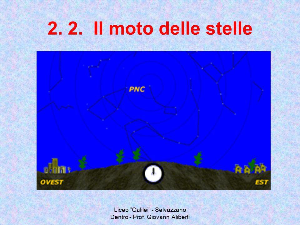 Liceo Galilei - Selvazzano Dentro - Prof. Giovanni Aliberti 2. 3. Il moto delle stelle