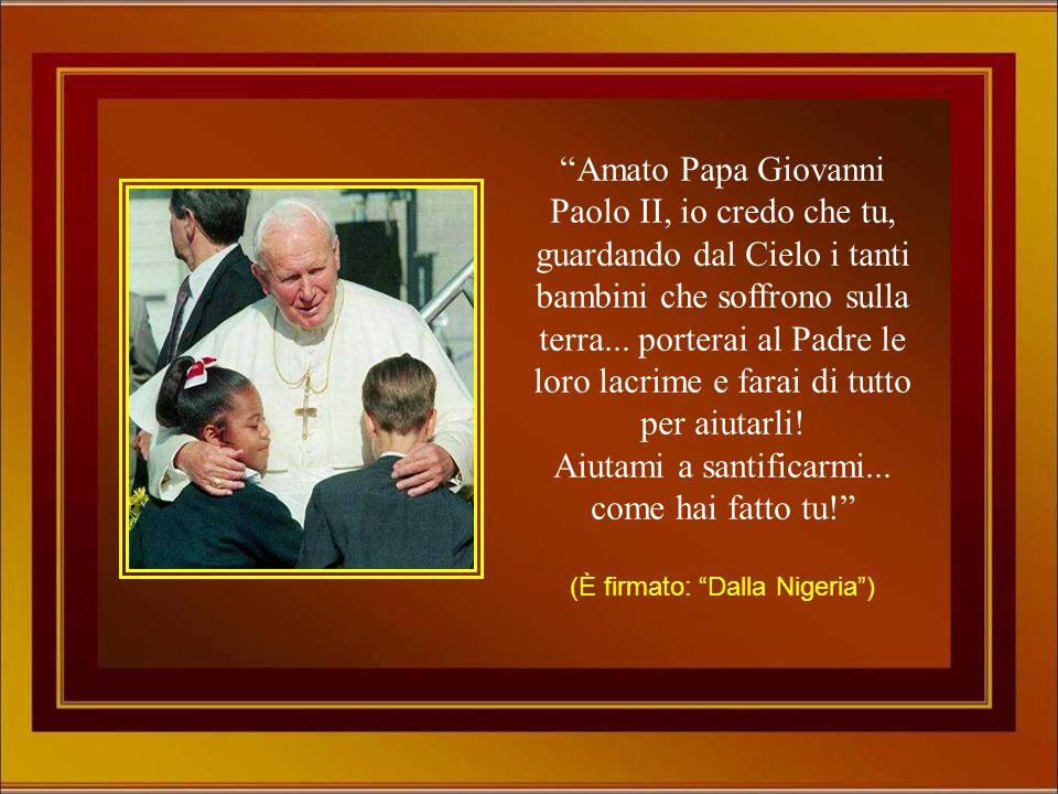 Caro Papa Giovanni Paolo II, grazie per averci amato così! La tua benedizione muta in questi tempi di chiasso è stata un gesto profetico di potenza st