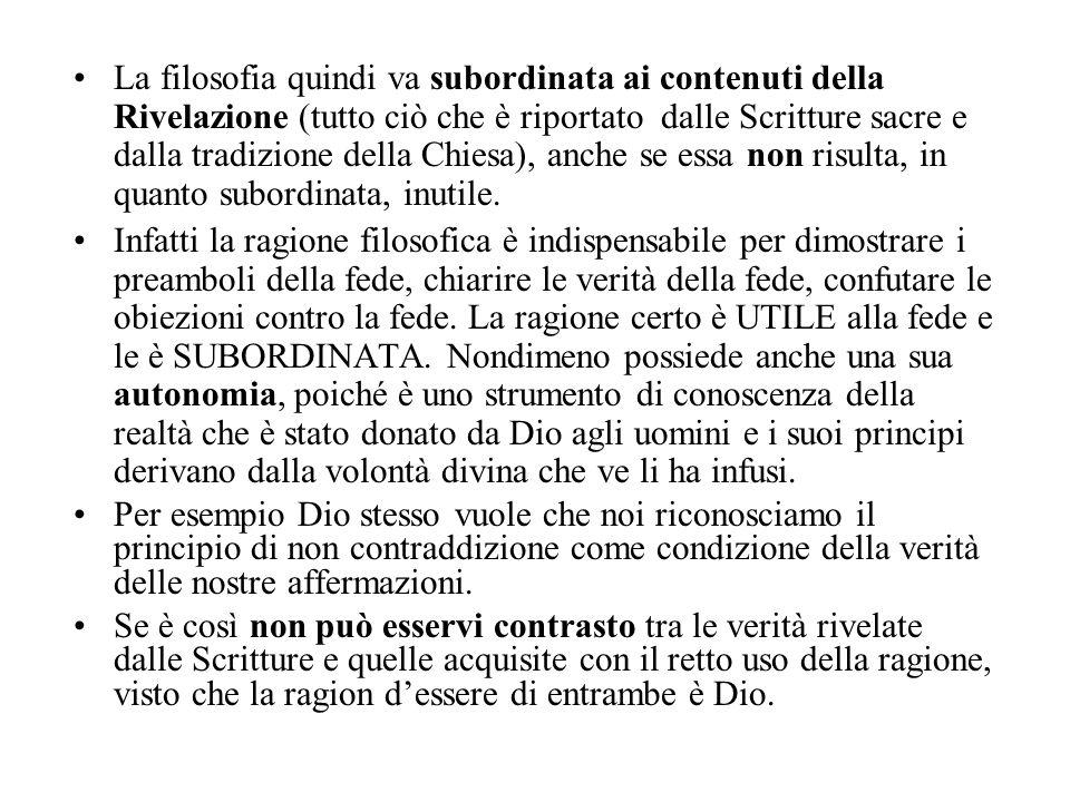 Le prove a posteriori dell'esistenza di Dio Le cinque vie movimento causa contingenza gradualità fine