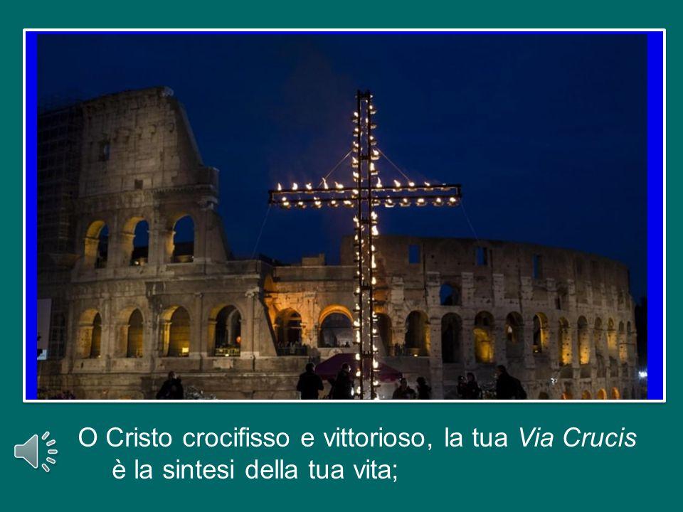 O Cristo crocifisso e vittorioso, la tua Via Crucis è la sintesi della tua vita;
