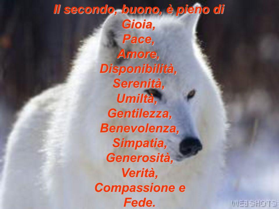 Il secondo, buono, è pieno di Gioia, Pace, Amore, Disponibilità, Serenità, Umiltà, Gentilezza, Benevolenza, Simpatia, Generosità, Verità, Compassione e Fede.