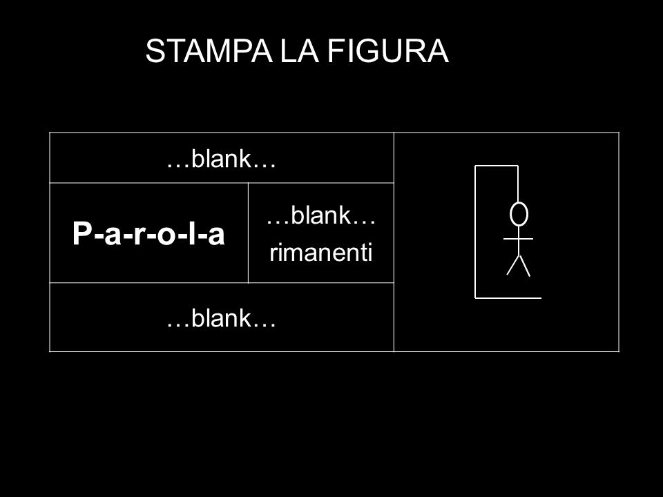 …blank… P-a-r-o-l-a …blank… rimanenti …blank… STAMPA LA FIGURA