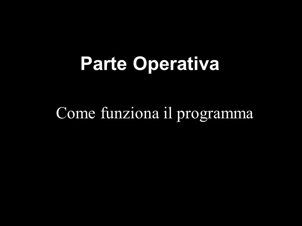 Parte Operativa Come funziona il programma