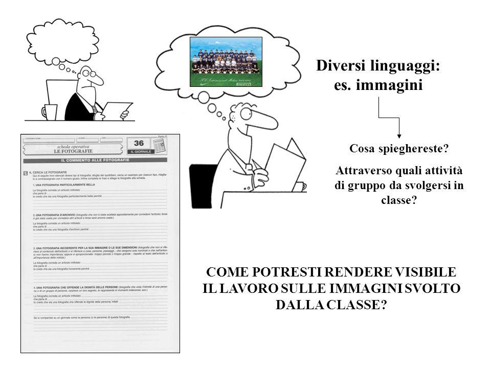Diversi linguaggi: es. immagini Cosa spieghereste.