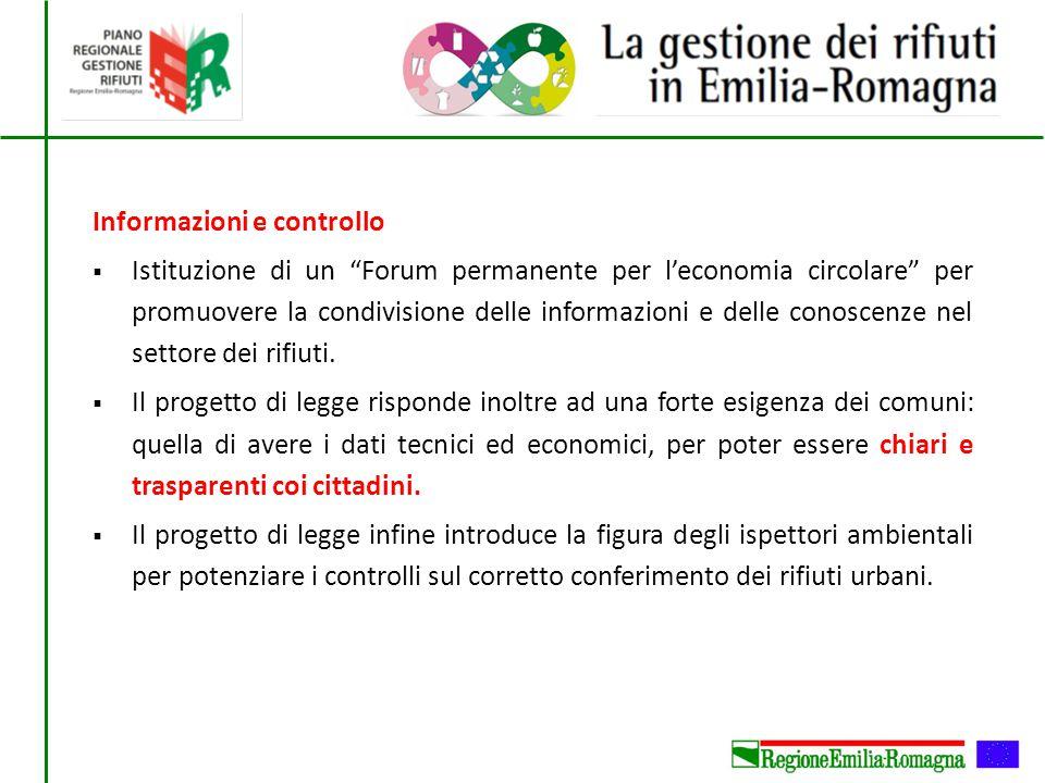 """Informazioni e controllo  Istituzione di un """"Forum permanente per l'economia circolare"""" per promuovere la condivisione delle informazioni e delle con"""