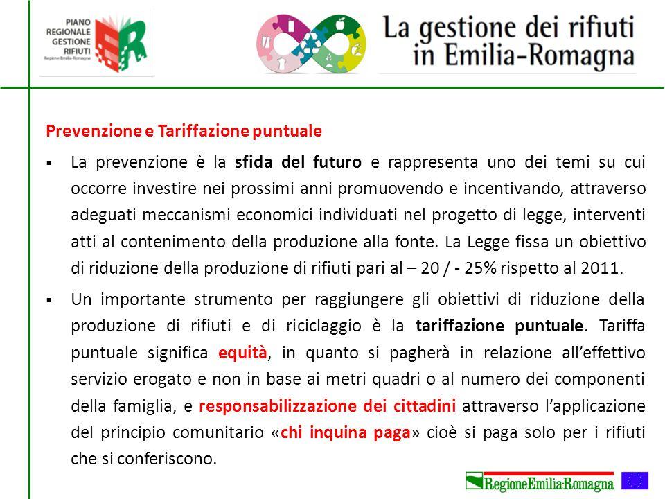 Prevenzione e Tariffazione puntuale  La prevenzione è la sfida del futuro e rappresenta uno dei temi su cui occorre investire nei prossimi anni promu