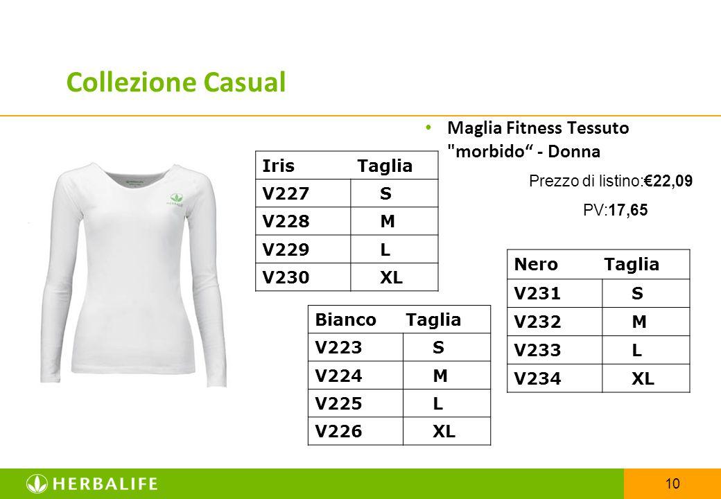 10 Maglia Fitness Tessuto