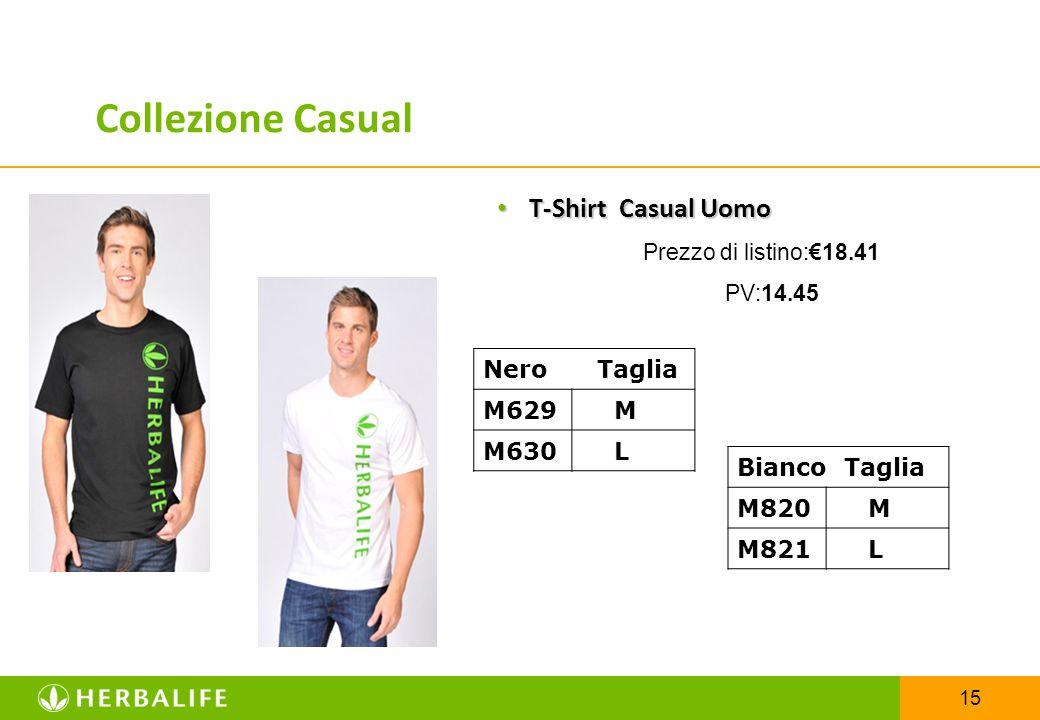 15 T-Shirt Casual Uomo T-Shirt Casual Uomo Prezzo di listino:€18.41 PV:14.45 Nero Taglia M629 M M630 L Bianco Taglia M820 M M821 L Collezione Casual