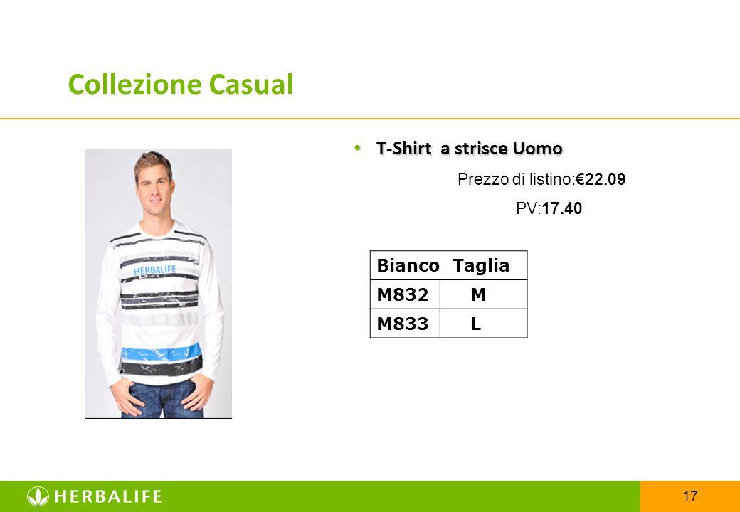 17 T-Shirt a strisce Uomo T-Shirt a strisce Uomo Prezzo di listino:€22.09 PV:17.40 Bianco Taglia M832 M M833 L Collezione Casual
