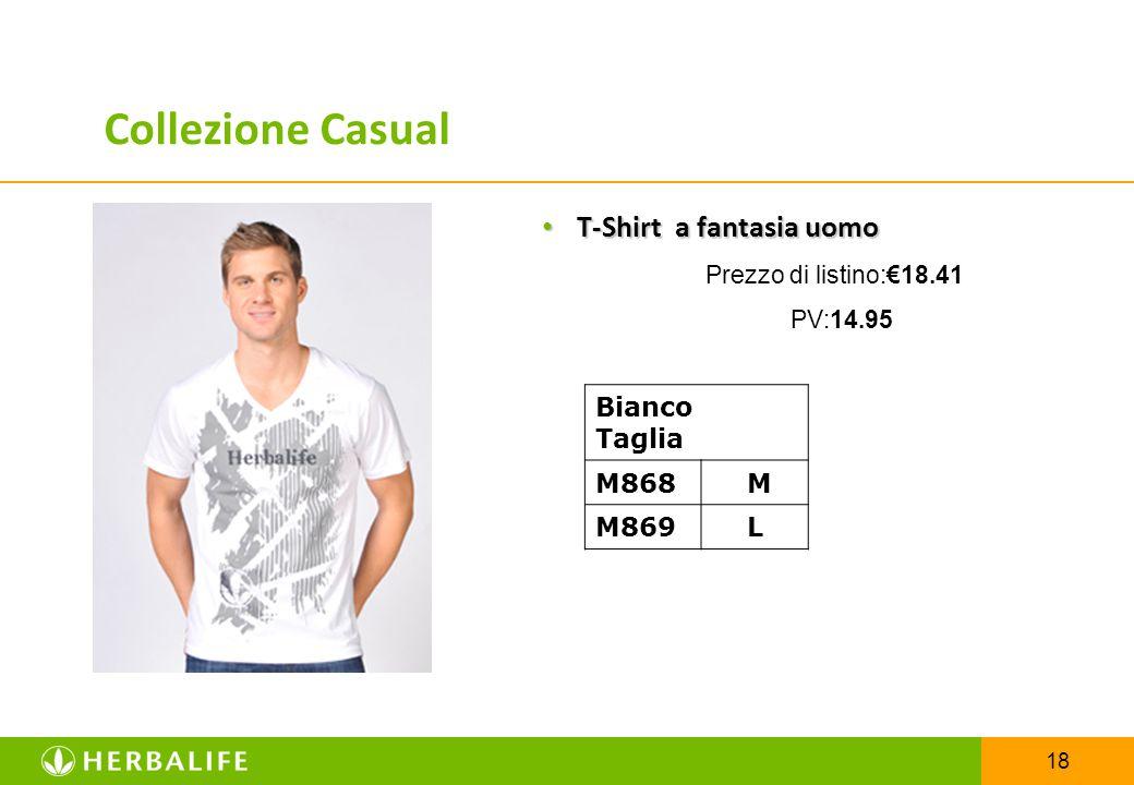 18 T-Shirt a fantasia uomo T-Shirt a fantasia uomo Prezzo di listino:€18.41 PV:14.95 Bianco Taglia M868 M M869 L Collezione Casual