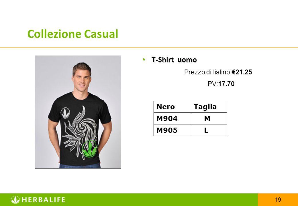 19 T-Shirt uomo T-Shirt uomo Prezzo di listino:€21.25 PV:17.70 Nero Taglia M904 M M905 L Collezione Casual