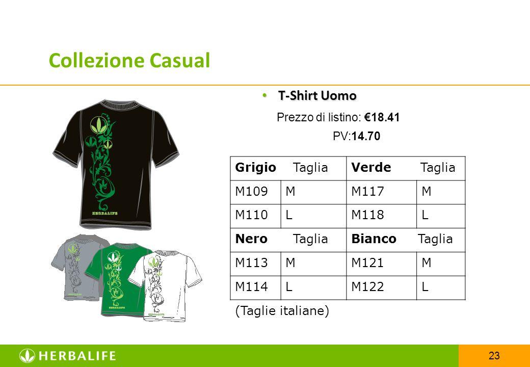 23 T-Shirt Uomo T-Shirt Uomo Prezzo di listino: €18.41 PV:14.70 Grigio TagliaVerde Taglia M109MM117M M110LM118L Nero TagliaBianco Taglia M113MM121M M1