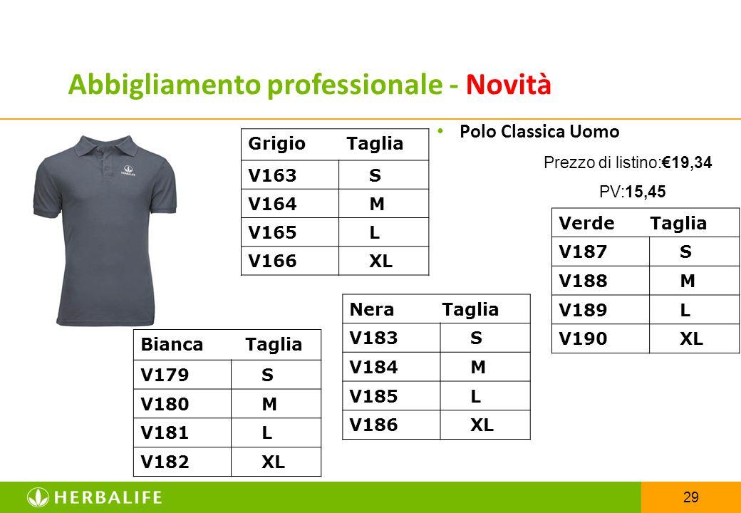 29 Polo Classica Uomo Prezzo di listino:€19,34 PV:15,45 Grigio Taglia V163 S V164 M V165 L V166 XL Abbigliamento professionale - Novità Nera Taglia V1