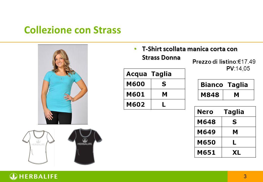 3 T-Shirt scollata manica corta con Strass Donna T-Shirt scollata manica corta con Strass Donna Bianco Taglia M848 M Acqua Taglia M600 S M601 M M602 L