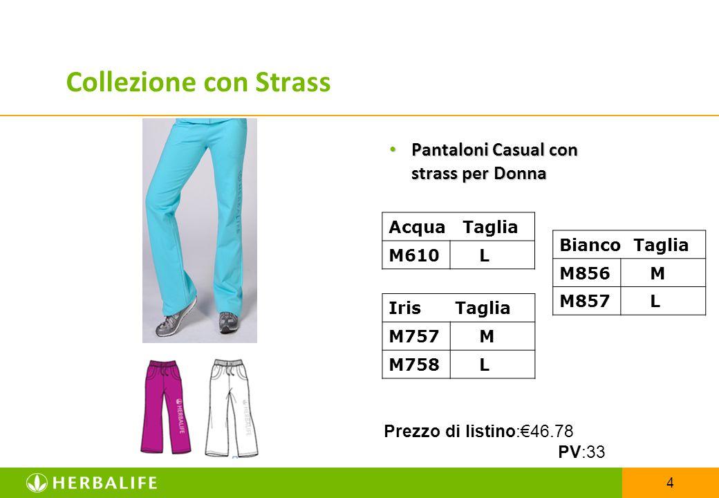 4 Pantaloni Casual con strass per Donna Pantaloni Casual con strass per Donna Acqua Taglia M610 L Iris Taglia M757 M M758 L Bianco Taglia M856 M M857