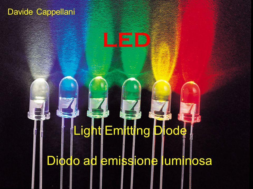 LED Light Emitting Diode Diodo ad emissione luminosa Davide Cappellani