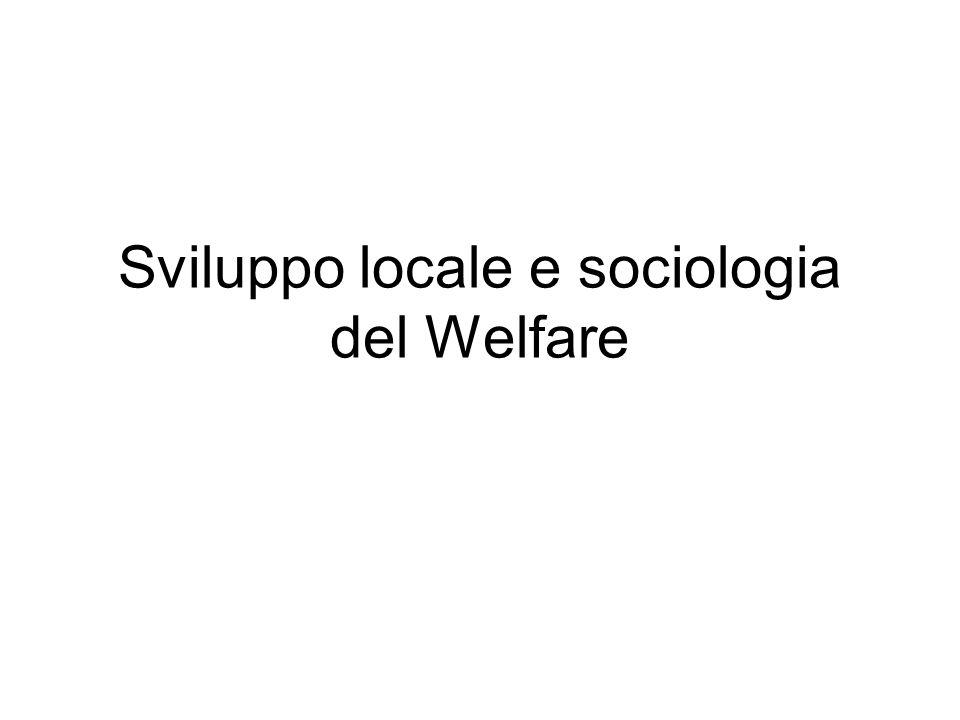Sviluppo locale e sociologia del Welfare
