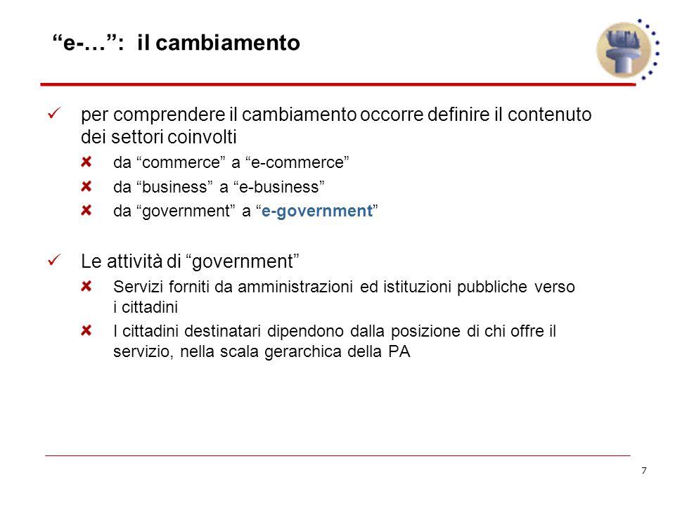 18 Obiettivi dell'e-Government cosa si propongono i progetti.