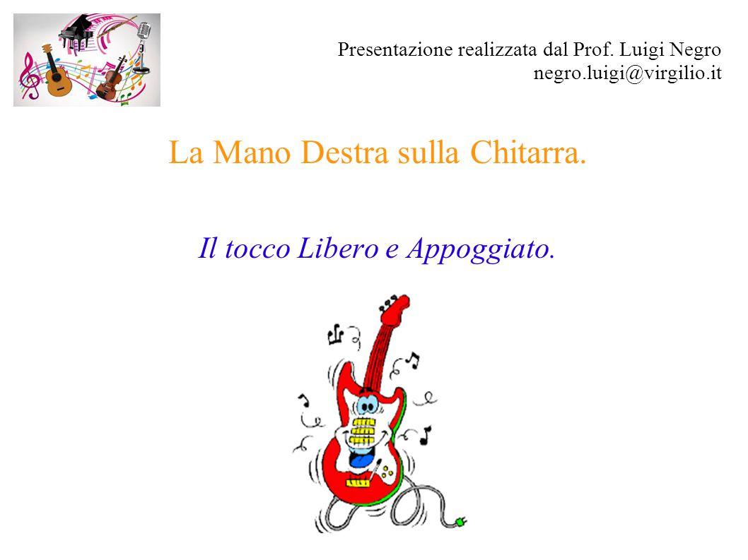 Presentazione realizzata dal Prof. Luigi Negro negro.luigi@virgilio.it La Mano Destra sulla Chitarra. Il tocco Libero e Appoggiato.