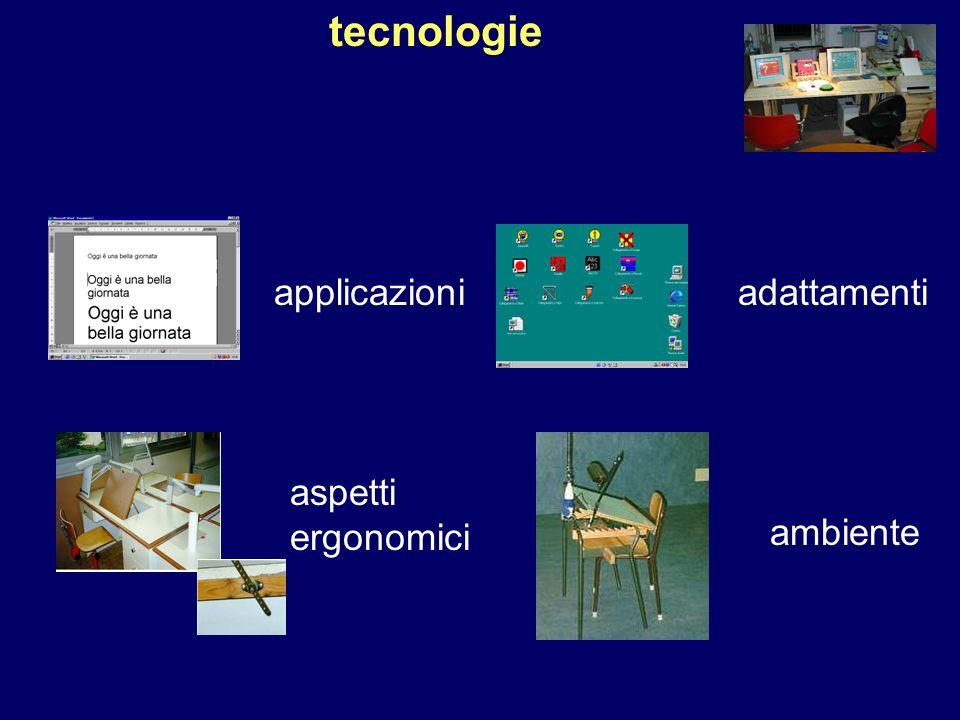 adattamenti ambiente aspetti ergonomici tecnologie applicazioni