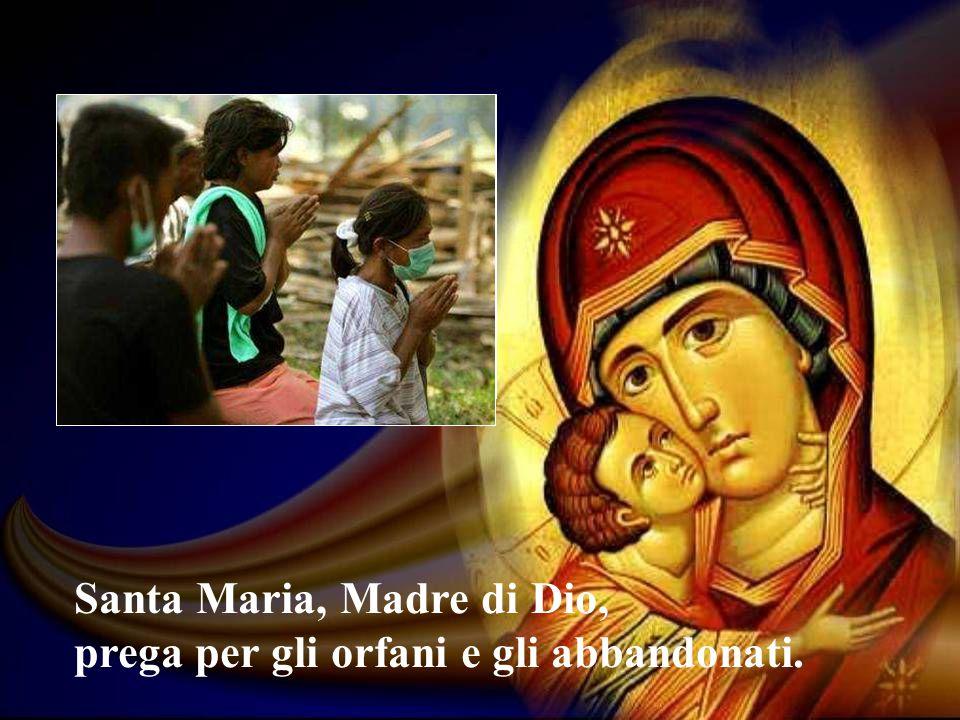 Santa Maria, Madre di Dio, prega per gli orfani e gli abbandonati.