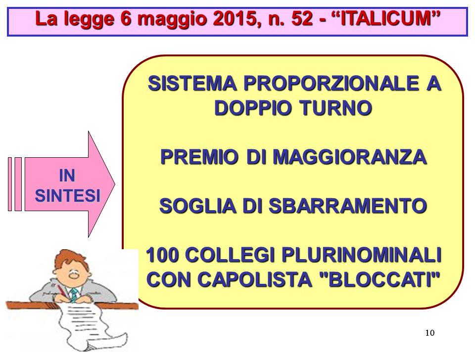 10 La legge 6 maggio 2015, n.