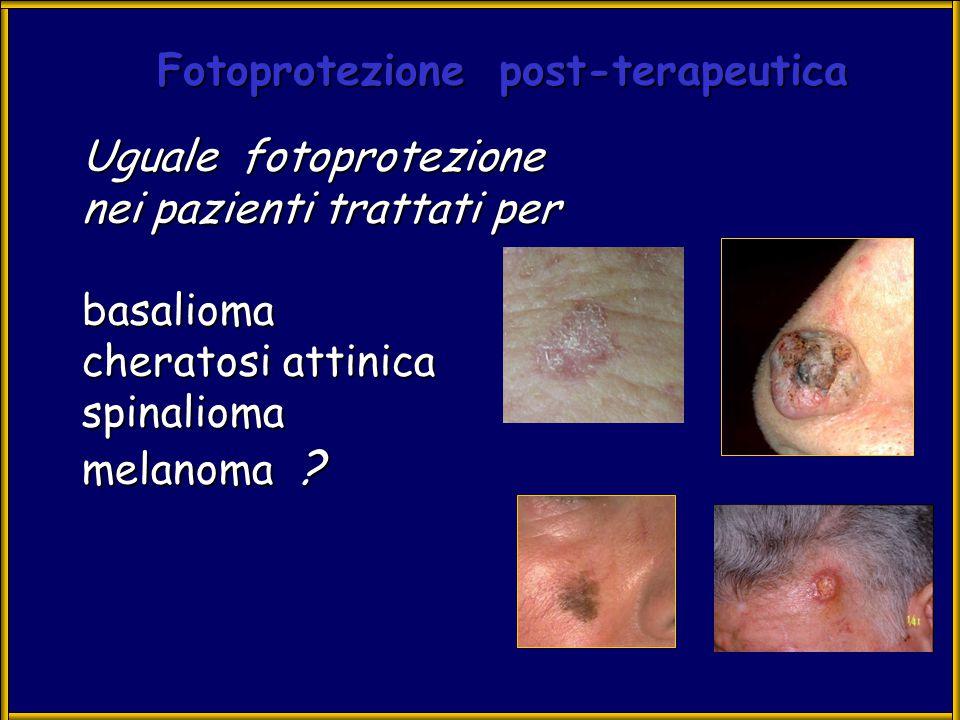 TUMORI CUTANEI : multistep carcinogenesi Iniziazione (reversibile) prima modificazione genica Promozione (reversibile) Progressione (irreversibile) cambiamenti proliferativi trasformazione neoplastica
