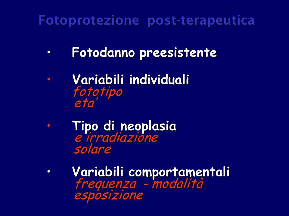 - geni oncosoppressori - geni oncosoppressori - molecole di protezione - molecole di protezione antiossidanti endogeni antiossidanti endogeni scavengers radicali liberi scavengers radicali liberi Capacità fotoprotettiva