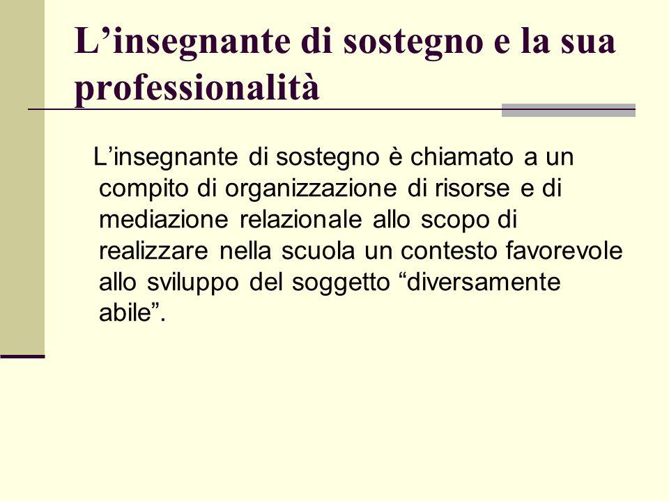 Dimensione della professionalità dell'insegnante di natura non specificatamente didattica ma relazionale e sociale.