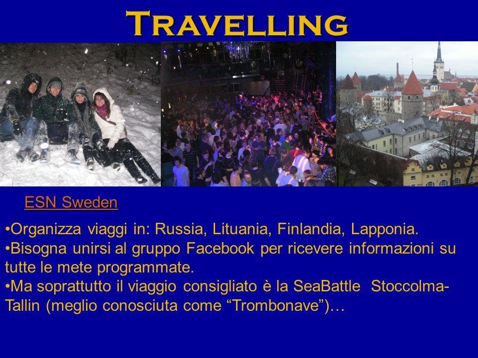 Travelling ESN Sweden ESN Sweden Organizza viaggi in: Russia, Lituania, Finlandia, Lapponia.