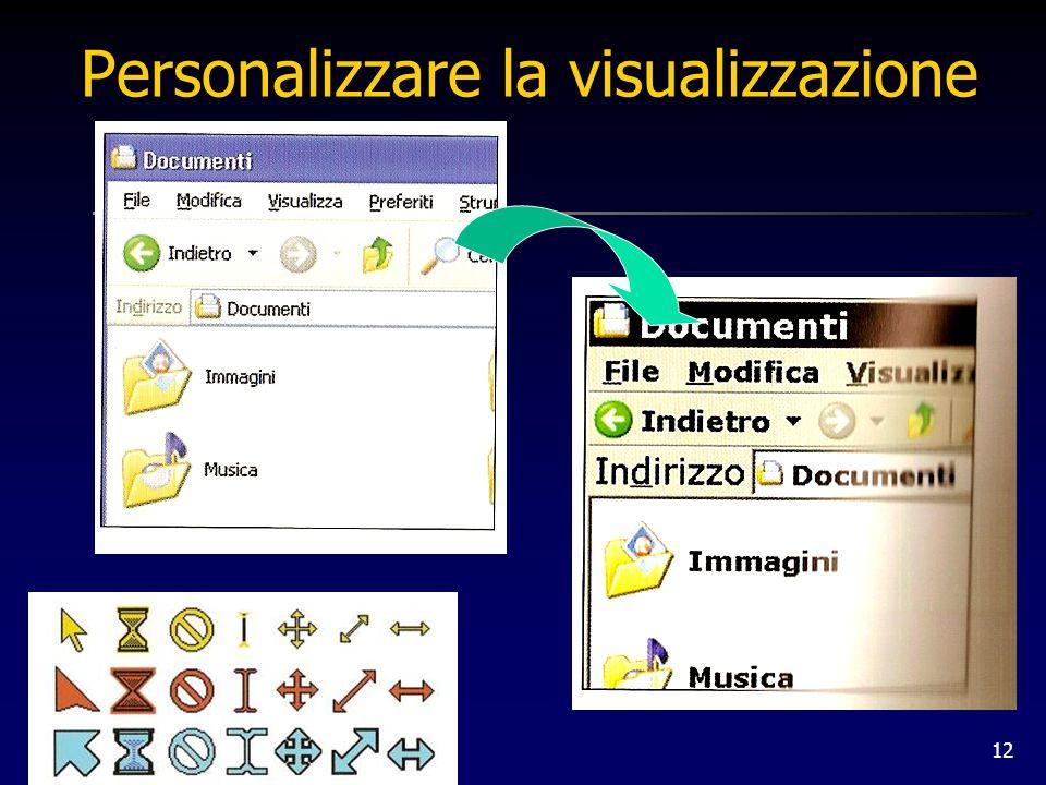12 Personalizzare la visualizzazione