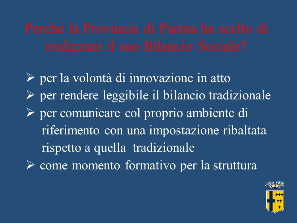 Perché la Provincia di Parma ha scelto di realizzare il suo Bilancio Sociale.