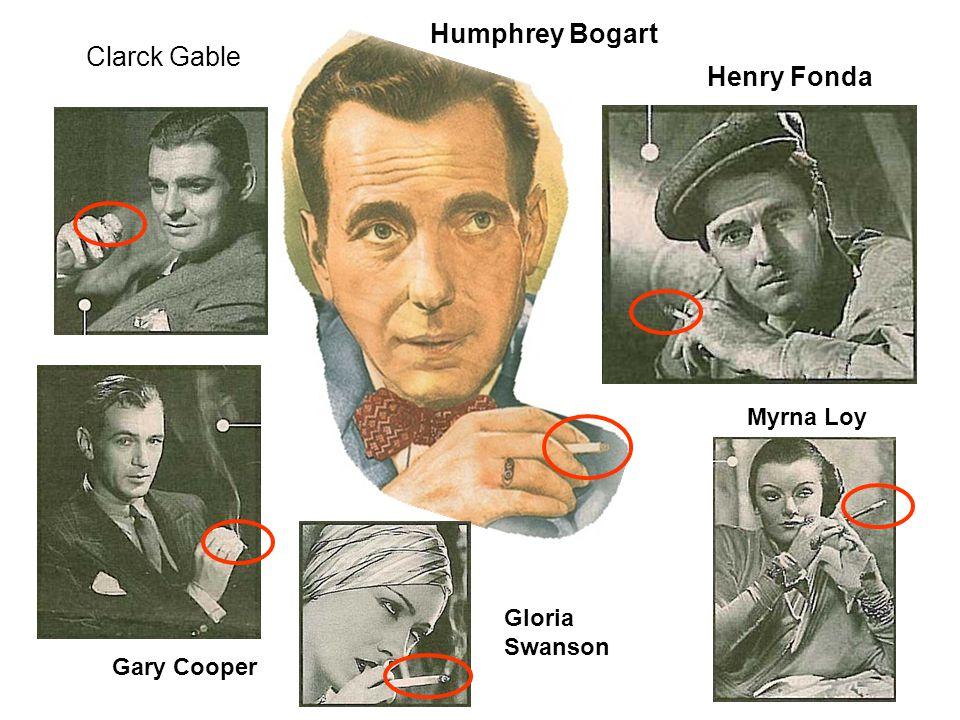 Gloria Swanson Clarck Gable Gary Cooper Henry Fonda Myrna Loy Humphrey Bogart