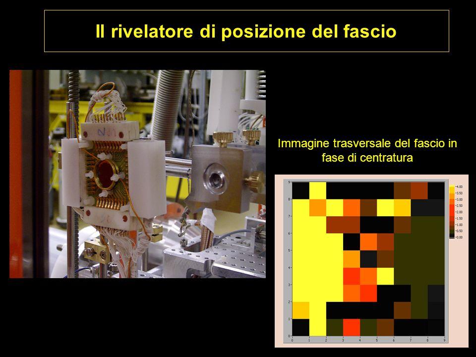 Il rivelatore di posizione del fascio Immagine trasversale del fascio in fase di centratura