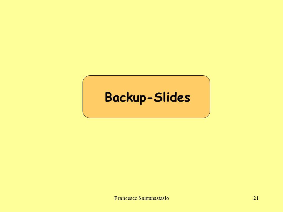 Francesco Santanastasio21 Backup-Slides