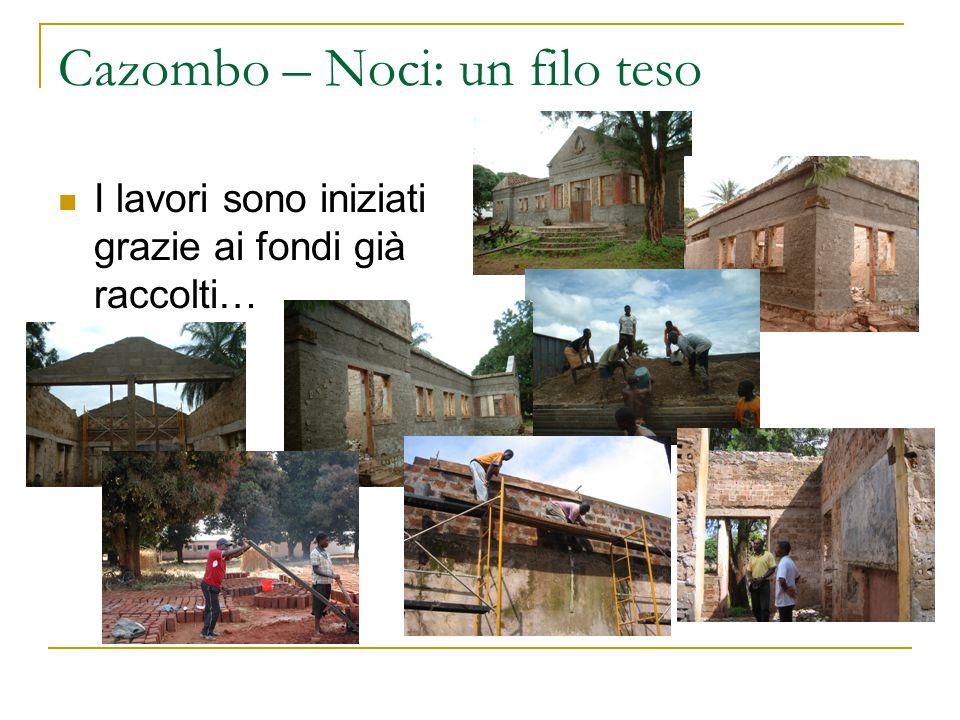 Cazombo – Noci: un filo teso I lavori sono iniziati grazie ai fondi già raccolti…