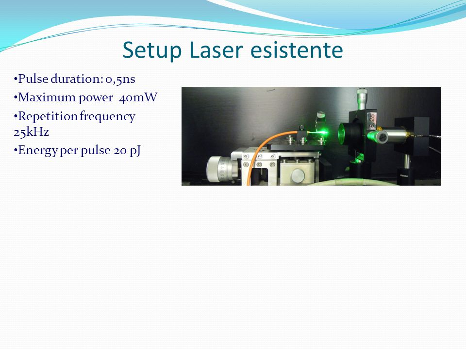 Corrispondenza energia dell'impulso e LET Occorrono 50 pJ a 800 nm per ottenere una LET di 200 MeV/(mg/cmsq) (ridondante ma occorre tenersi larghi) Il Laser proposto arriva a 125 pJ quindi e' molto ridondante.