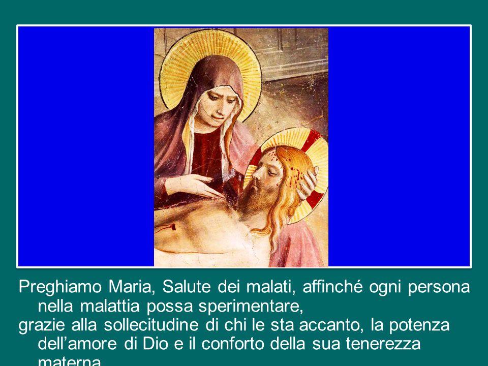 La Chiesa madre, tramite le nostre mani, accarezza le nostre sofferenze e cura le nostre ferite, e lo fa con tenerezza di madre.