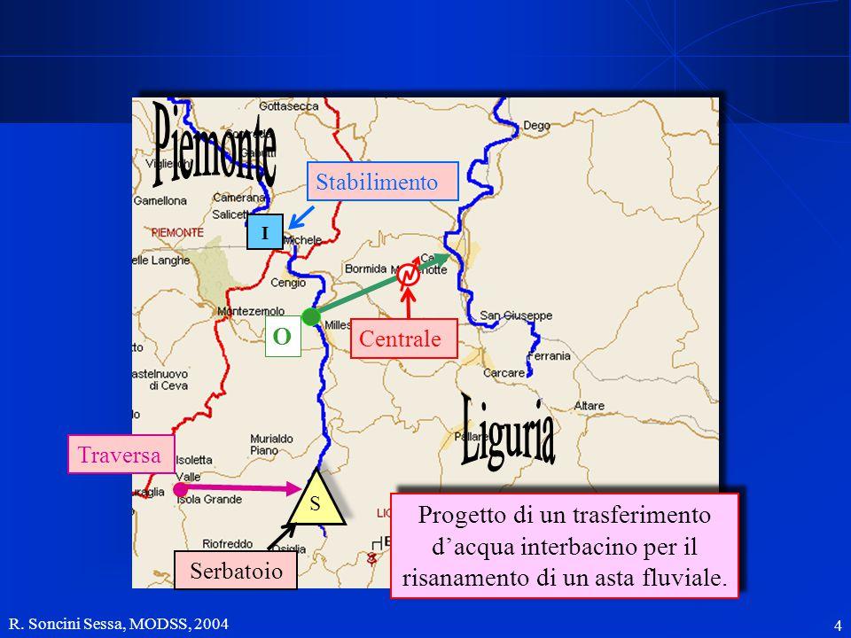 4 I S Serbatoio Centrale Stabilimento Progetto di un trasferimento d'acqua interbacino per il risanamento di un asta fluviale. Traversa O
