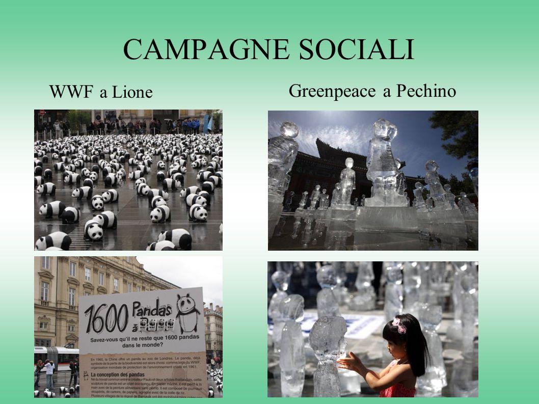 CAMPAGNE SOCIALI WWF a Lione Greenpeace a Pechino