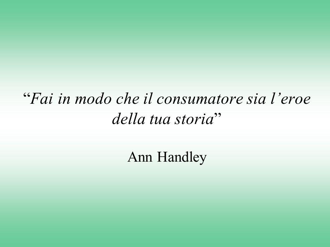 """""""Fai in modo che il consumatore sia l'eroe della tua storia"""" Ann Handley"""
