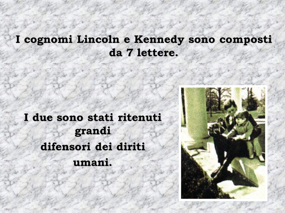 Abraham Lincoln viene eletto per il Congresso nel 1846. Abraham Lincoln viene eletto presidente nel 1860. John F. Kennedy viene eletto per il Congress