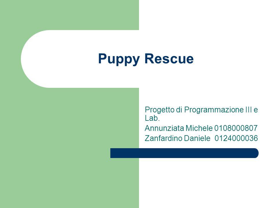 Puppy Rescue Progetto di Programmazione III e Lab.