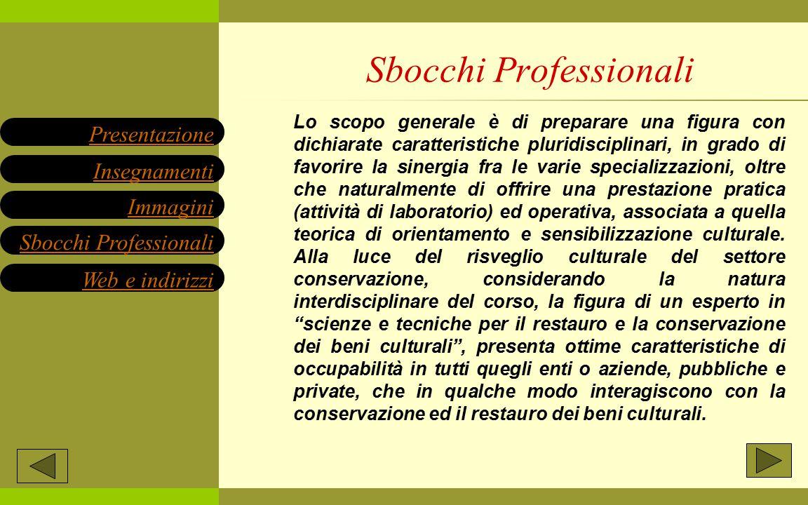 Lo scopo generale è di preparare una figura con dichiarate caratteristiche pluridisciplinari, in grado di favorire la sinergia fra le varie specializz
