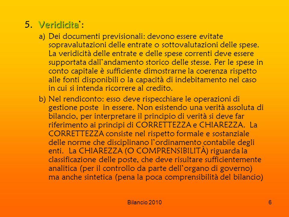 Bilancio 20106 Veridicita 5.