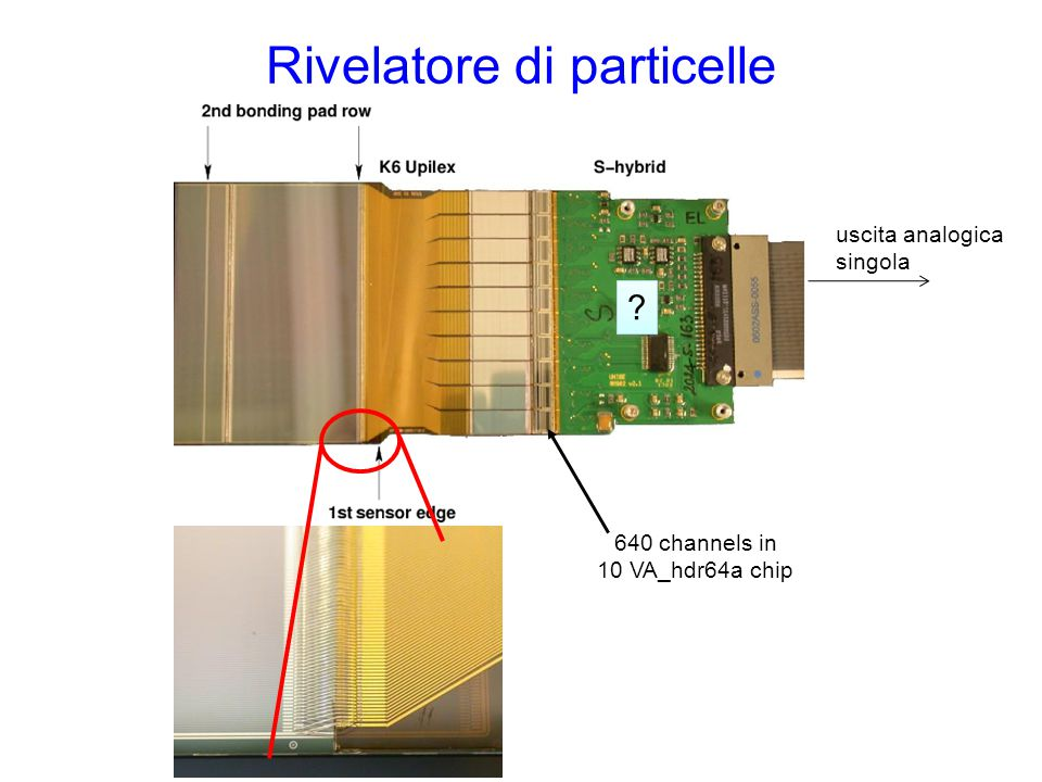 Rivelatore di particelle 640 channels in 10 VA_hdr64a chip uscita analogica singola ? ?