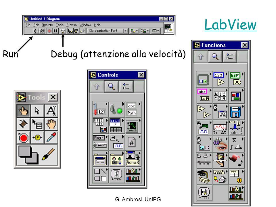 G. Ambrosi, UniPG Debug (attenzione alla velocità)Run LabView