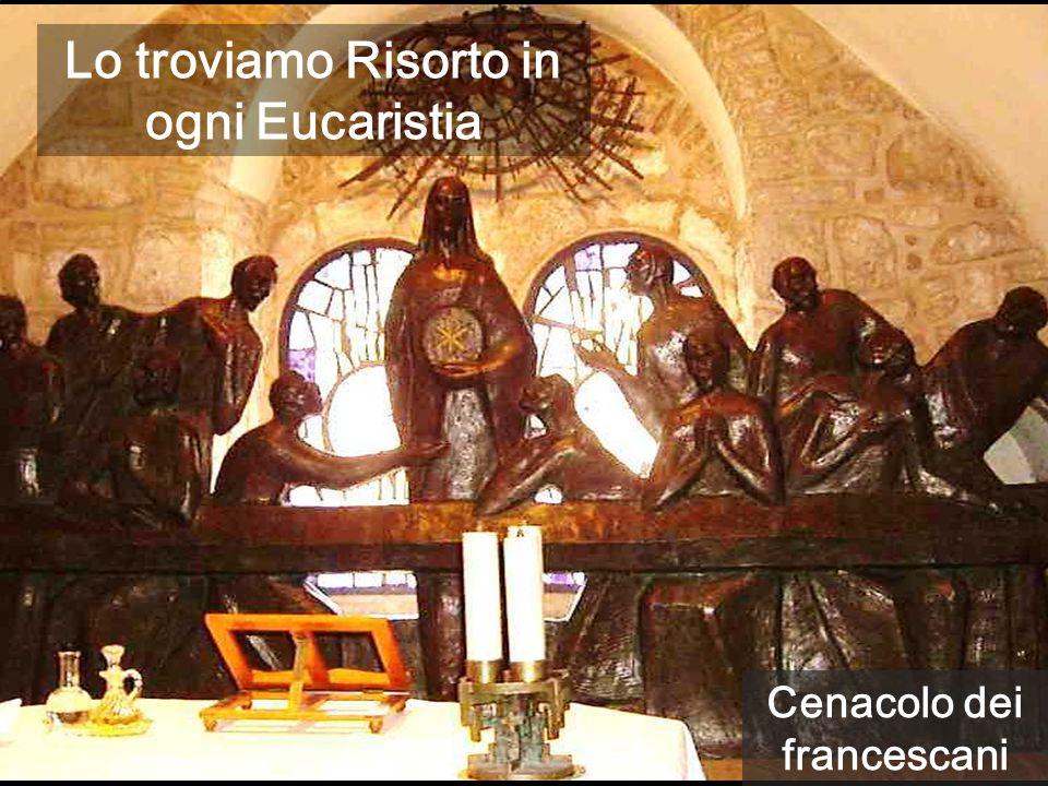 Cenacolo dei francescani Lo troviamo Risorto in ogni Eucaristia
