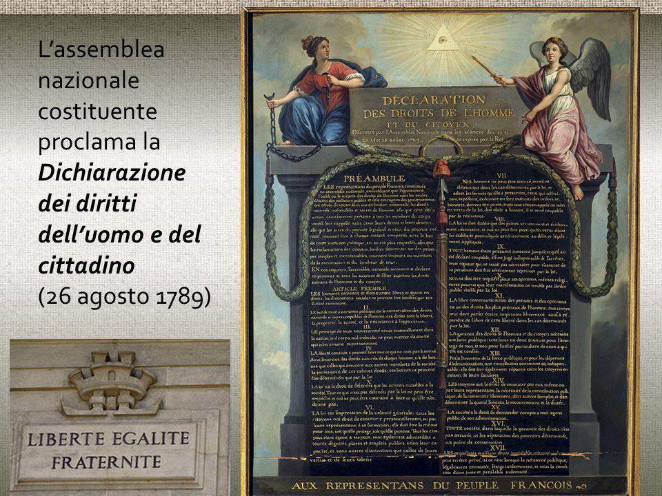 L'assemblea nazionale costituente proclama la Dichiarazione dei diritti dell'uomo e del cittadino (26 agosto 1789)